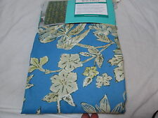 New Waverly Floral Fabric Shower Curtain 72x72 ~ Honeymoon ~ Blue, Tan Flowers