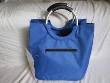 Shopper Tasche Blau Groß 42, 27, 37 sehr Stabil 2 Henkel