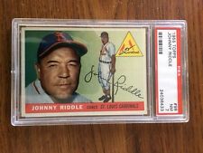 1955 Topps JOHNNY RIDDLE #98 St. Louis Cardinals, PSA 7 NM