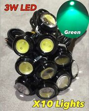 10 x 3w GREEN high power CREE LED puddle lights JDM VIP ground DRL for GEO