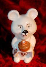 VINTAGE MASCOT MISHA BEAR XXII OLYMPIC GAMES MOSCOW PORCELAIN FIGURE1980