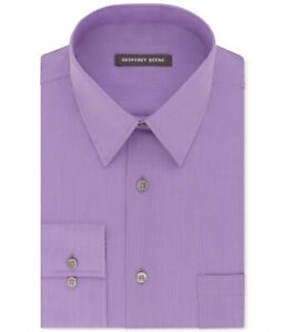 Geoffrey Beene Men's Classic-Fit Wrinkle Free Bedford Cord Dress Shirt MA1031