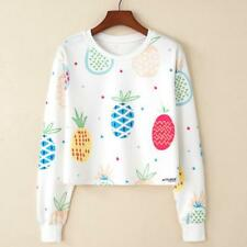 Harajuku Women Girl's Long Sleeve Hoodie Sweatshirt Casual Cropped Sweater Tops