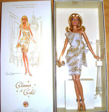 Barbie Glimmer of Gold Doll Platinum Label W/Shipper NRFB Free Ship U.S. xb1a