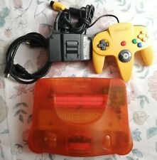 CONSOLA NINTENDO 64 HDMI SERIE FUNTASTIC ORANGE COLOR NARANJA CABLES Y MANDO N64