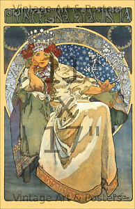 11x17 inch Art Nouveau Poster Print Alphonse Mucha Princezna Hyacinta