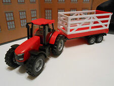 TOY TRACTOR with TRAILER, FARM YARD BOY GIRL PRESENT GIFT TOY NEW BOXED!