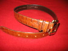 JOS. A BANK, WOMEN'S SMALL ALLIGATOR EMBOSSED BELT, COLOR: BROWN, USED, VALUE:$6