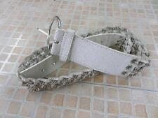 "WOMENS VINTAGE  BELT WHITE SIZE 95 CM 37"" WELL WORN  SKU NO AR547"