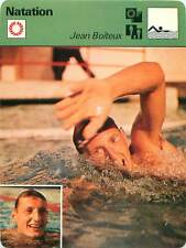 FICHE CARD:Jean Boiteux FRANCE Nage-libre Freestyle swimmer Natation SWIMMING70s