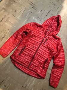 $299 PATAGONIA Ultralight Down Hoody Jacket Red Women's Size Large L