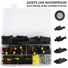 Waterproof Car Way Electrical Wire Connector Plug 26 Set 1/2/3/4 Pin Accessories