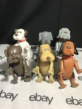 Tonka Poseable Pound Puppies Dogs Figures Set Of 6 Vintage