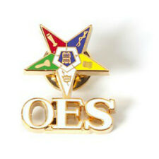 Sweet Star with OES Letters Lapel Pin - Order of the Eastern Star - 1 inch -New!