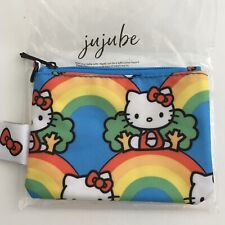 JuJuBe Hello Kitty Hello Rainbow Coin Purse Yellow Printed Lining Limit Edition
