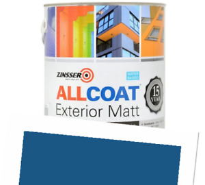 Zinsser Allcoat Exterior 15 Year Protection WB Tintable RAL5019 Blue Matt 1L
