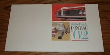 Original 1962 Pontiac Full Size Deluxe Sales Brochure 62 Bonneville Star Chief