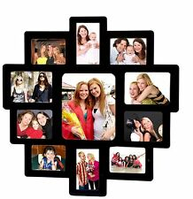 Trendzy Wooden 11-in-1 Collage Wall Photo Frame (59.4cm x 1.1cm x 59.2 cm,Black)