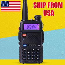 Baofeng UV-5R VHF/UHF Dual-Band FM ham 2 way 5R radio Battery Walkie Talkie USA