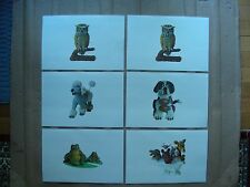(SET OF 6) ANIMAL PLASTIC COVERED PLACEMATS