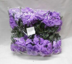 Silk Artificial Open Roses Wedding Flowers Bouquets 84 Lavender Centerpieces