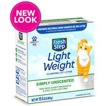 Fresh Step Unscented Lightweight Litter, Clumping Cat Litter Simply Unscented