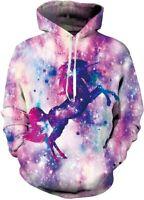 Belovecol Mens Hoodies 3D Hooded Sweatshirt Casual Print Fleece Pullover Hoodie