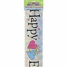 Happy Engagement Holographic 12-Feet Party Banner