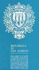 SAN MARINO - COLLEZIONE USATI (dal 1979 al 1995) SU ALBUM GBE