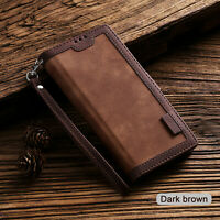 Retro Wallet Leather Flip Cover Case For Samsung Note 20 10 Ultra Plus S20 S10S9