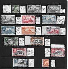 Gibraltar Stamp Collection George VI umm mm inc £1, 10/-. SG cat: £430+