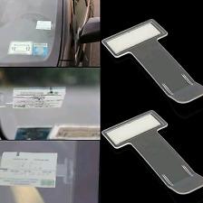 2x de Coche Vehículo Autocaravana Camión Parabrisas boleto de estacionamiento Clip Holder Pass UK