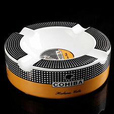 COHIBA Ceramic Tobacco Cigarette Cigar Ashtray Holder 4 Slots Luxurious Men Gift