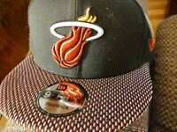 NEW: Miami Heat Cap Hat - New Era 9Fifty Black Snapback