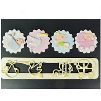 Baby Stroller Series Cutter Cookies Fondant Cake Decorating Mold Decor Tools 3D