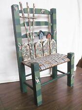 Wicker Wooden Chair, Handmade Crafts, 17