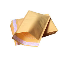 10PCS Golden Kraft Bubble Padded Shipping Envelope Mailers Bag 11CM*13CM
