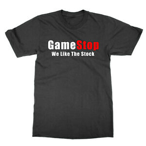 GameStop We Like the Stock t-shirt funny present gift Wall Streeet Bets GME tee