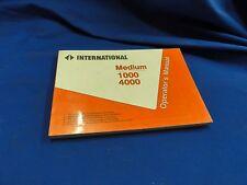 International Operators manual Medium 1000 4000