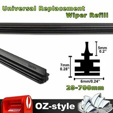 """4 Pairs 28"""" 700mm Car Truck Front Rear Wiper Blade Insert Refills Replacement OZ"""