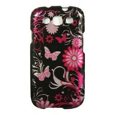 For Samsung Galaxy S III 3 HARD Protector Case Snap Phone Cover Black Butterfly