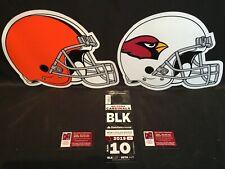 Arizona Cardinals vs Cleveland Browns 12/15 Black BLK Lot Parking Pass Tickets