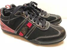 Rare Men's COOGI Australia Racing Lace Up Black Leather CMF342 Size 9
