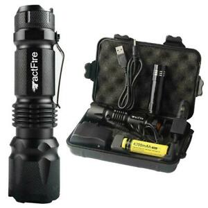 Super Hell 90000LM Taschenlampe LED Fackel USB Wiederaufladbar + Batterie