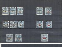 Danzig, Gdansk 1923-1938, kompl. Sätze aus MiNrn. Porto 30 - 42 o, gestempelt o