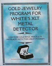 GOLD JEWELRY PROGRAM FOR WHITES XLT METAL DETECTOR FIND MORE FREE SHIPPING