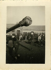 PHOTO ANCIENNE - VINTAGE SNAPSHOT - MILITAIRE CANON ARME - MILITARY WEAPON