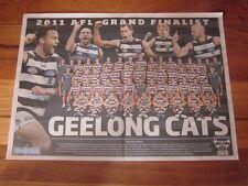 HERALD SUN GEELONG CATS 2011 AFL GRAND FINALIST NEWSPAPER POSTER
