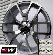 24 Inch Chevy Silverado 1500 Oe Replica Honeycomb Wheels Machined Silver Rims