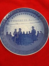 Royal Copenhagen United States Bicentenary 1776 Congress Plate
